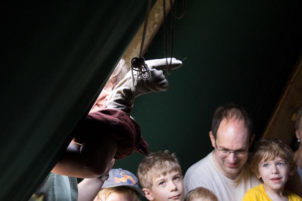 Schnecki kommt ins Zelt