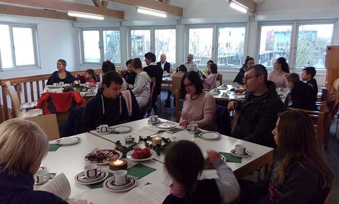 Gäste beim Adventsnachmittag