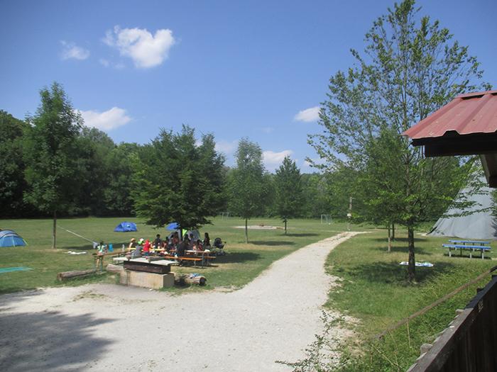 Blick über den Zeltplatz