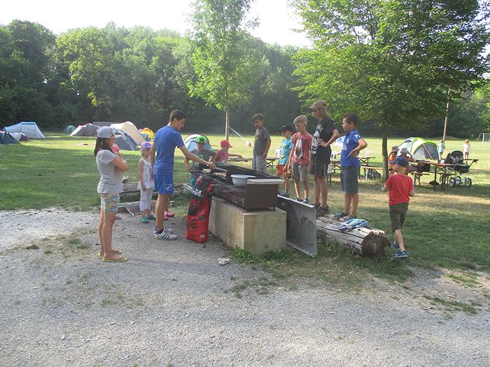 Grillen beim Zeltlager