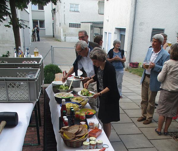 Salatbuffet bei Dämmerschoppen