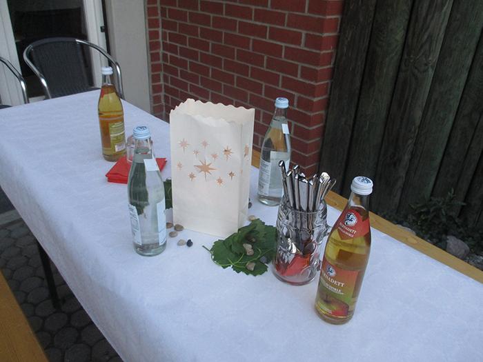 Tischschmuck bei Dämmerschoppen