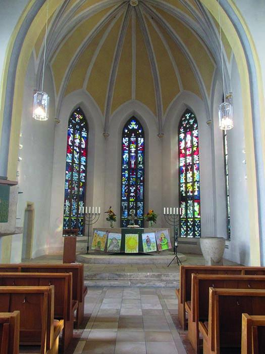 Biblische Bilder für Gott am Altar