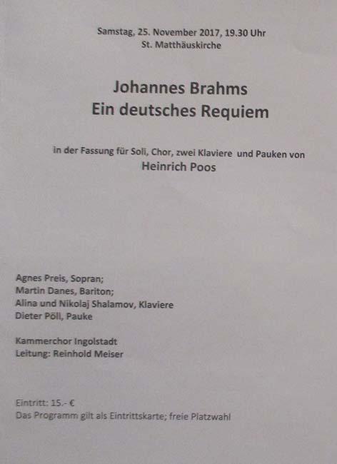 Programm Requiem