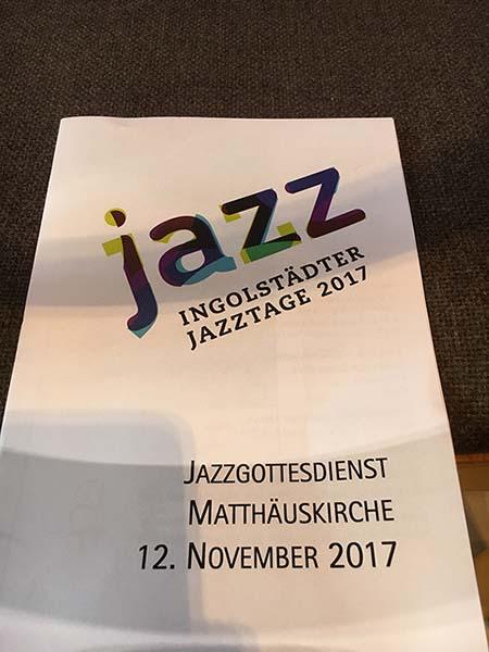 Programmblatt Jazzgottesdienst