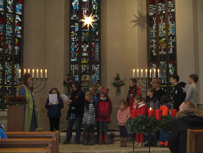 Bischof Nikolaus und Kinder