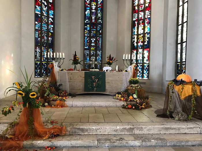 Erntedank Altarraum 7.10.18