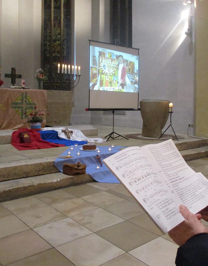 Gebetsordnung und Altarraum
