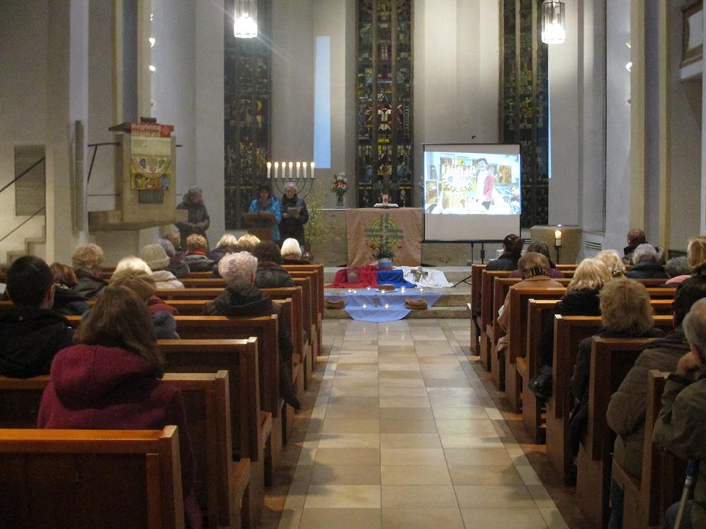 In der Kirche zum WGT-Gottesdienst