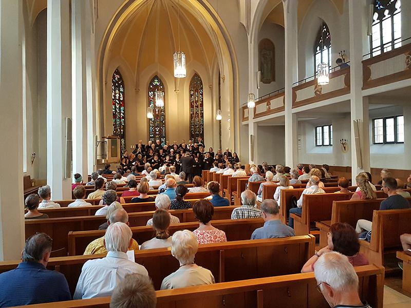 Kammerchor, Kirchenschiff