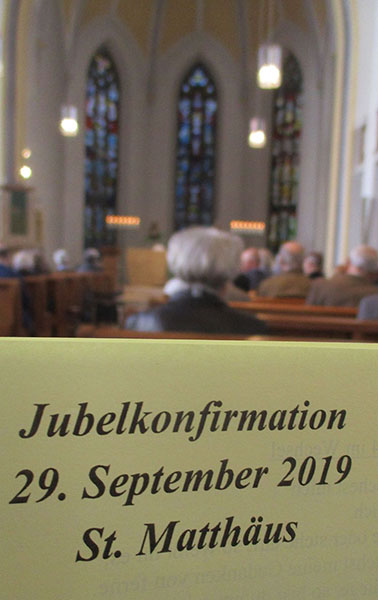 Jubelkonfirmation Programm