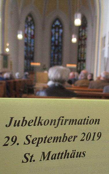 Jubelkonfirmation Programm