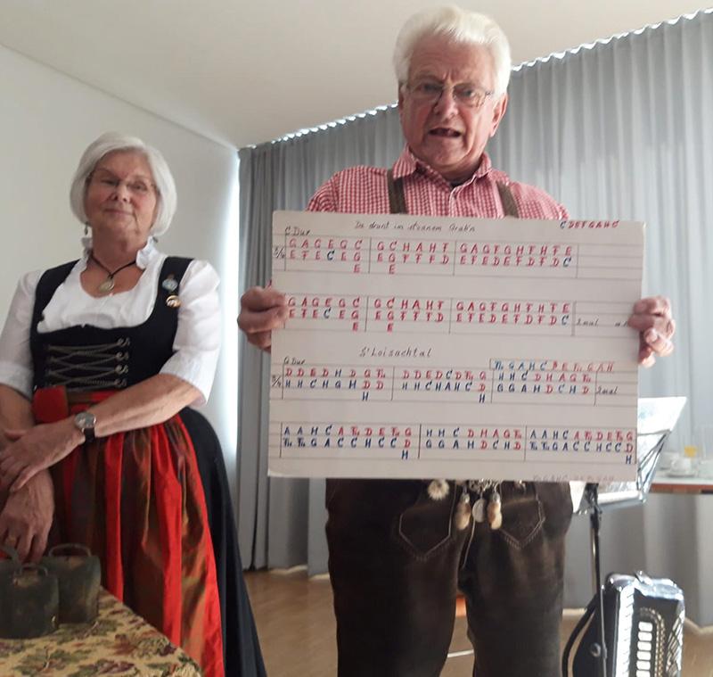 Notenblatt des Alpenglockenvereins
