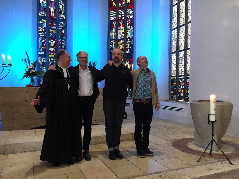 Musiker und Liturg im Jazz-Gottesdienst 2019
