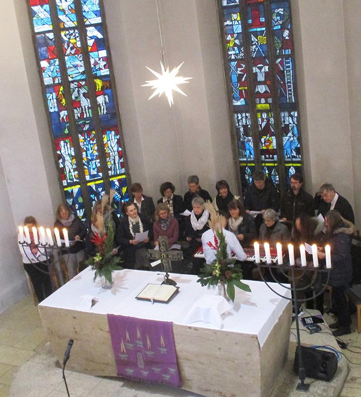 Gospelchor von Empore aus
