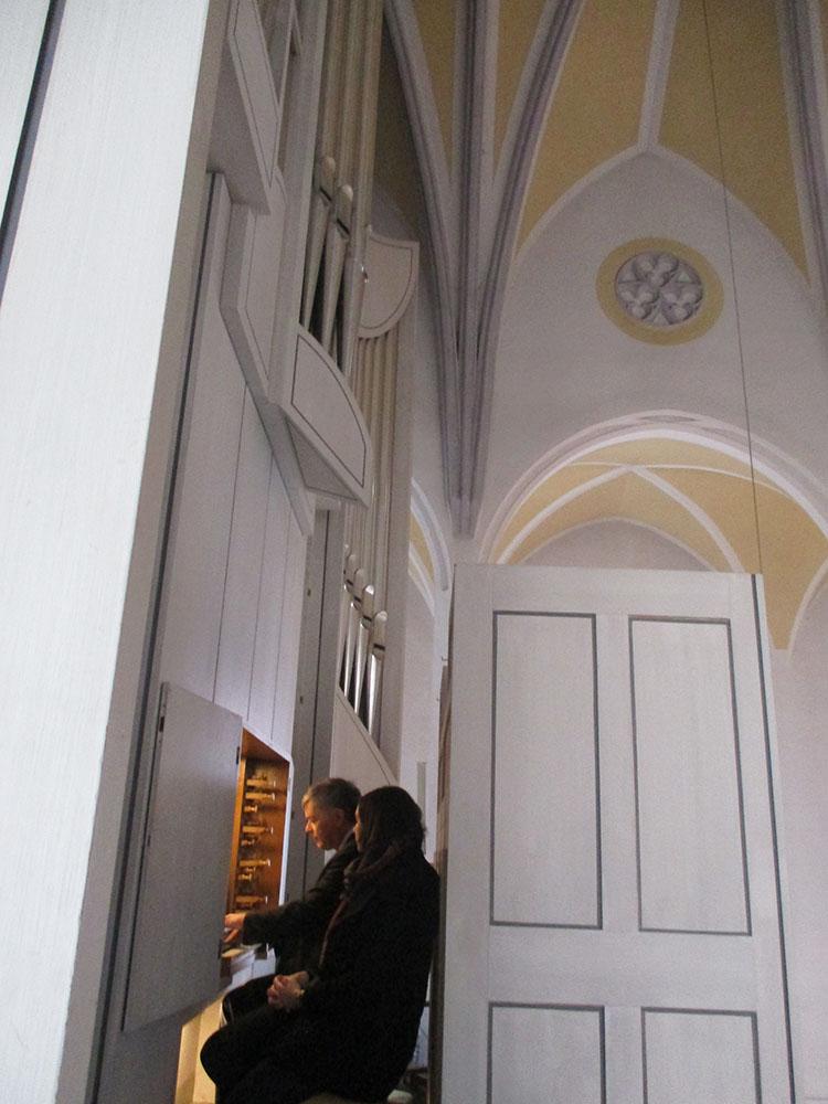Orgelmatinee Kirchenmusiker an der Orgel