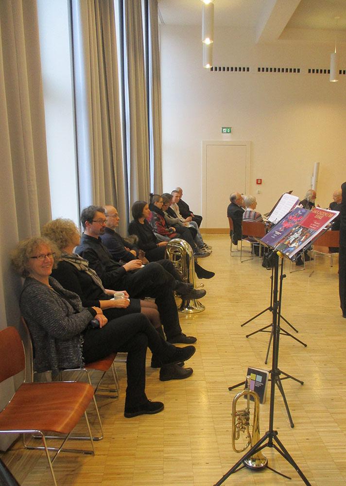 Posaunenchor in Ruhe bei Orgelfestakt