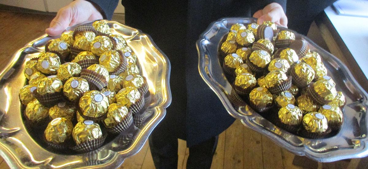 Süßigkeit für die Geburtstagsgäste
