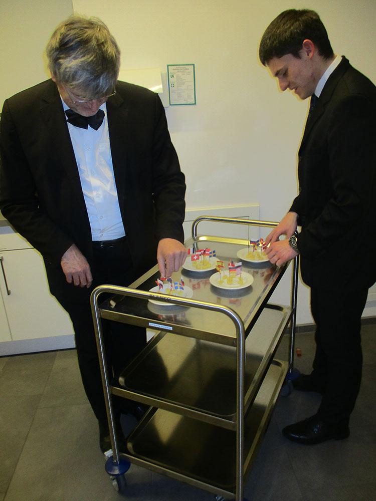 Käsespießchen für den Mitarbeiterdank
