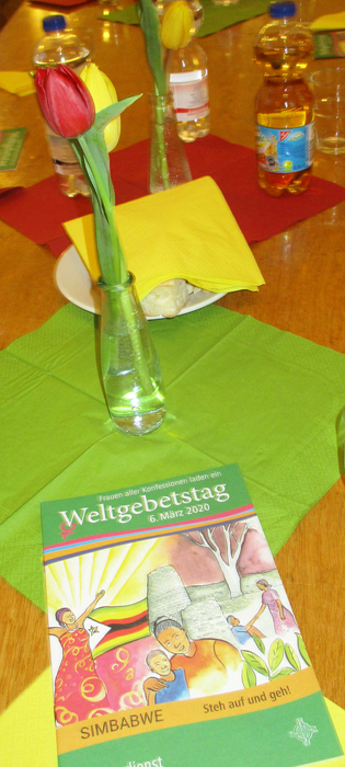 Tischschmuck, Tulpen, Heft WGT